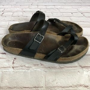 Birkenstock black leather sandals